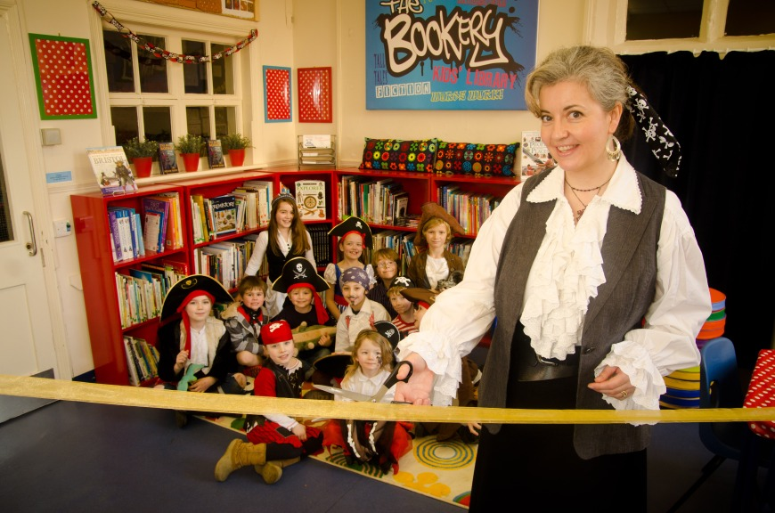 Author Helen Hart declares the Bookery officially open